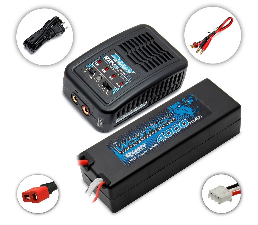 Reedy 324-S Compact Balance Charger & LiPo Combos (3)