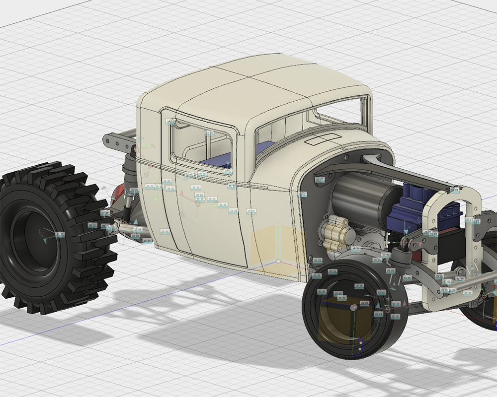 Axial, SCX10, Wraith, Tamiya, Hobbywing, '32 Ford Deuce Coupe, scratchbuilt, laser-cut