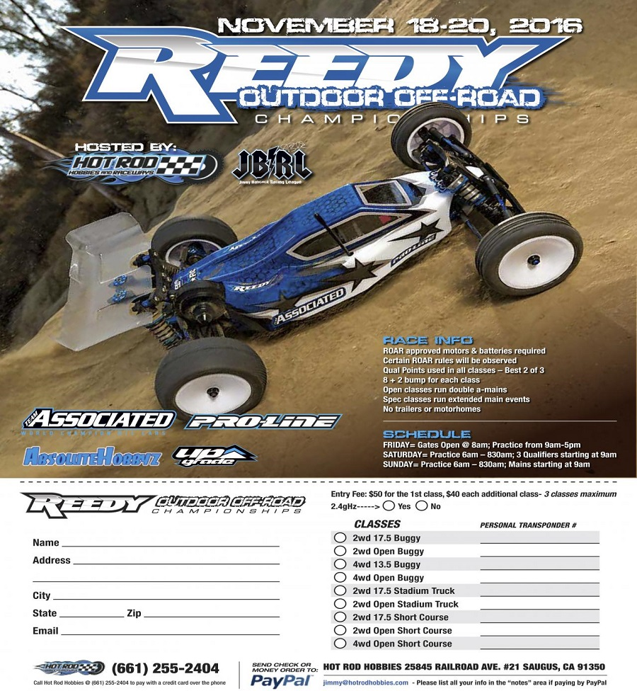2016 Reedy Outdoor Off Road Championships
