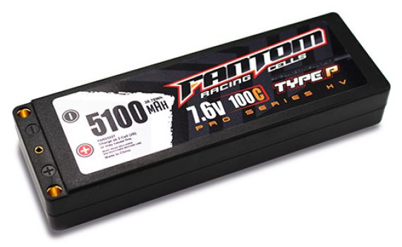 Fantom Outlaw HV Pro Racing Series LiPo Batteries (4)