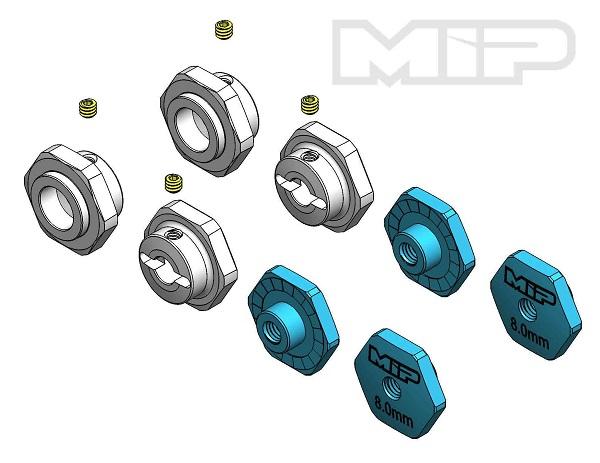 MIP 17mm Hex Adapter +3mm Offset Kit For TLR TEN-SCTE (1)