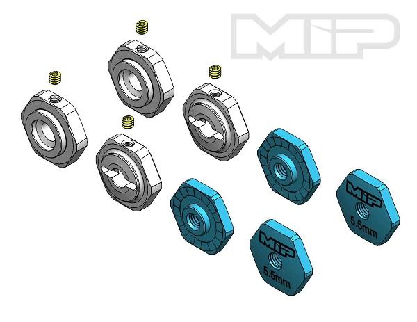 MIP 17mm Hex Adapter Standard Offset Kit For TLR TEN-SCTE (4)