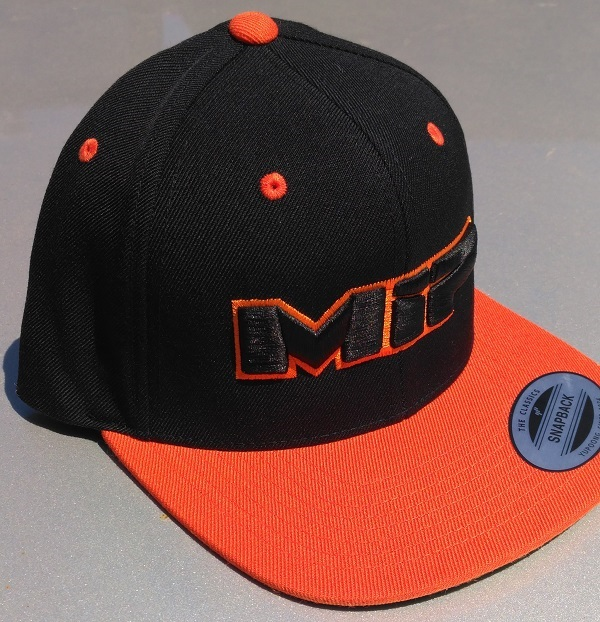 MIP Red And Orange Snap-Back Hats (2)