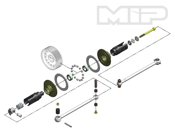 MIP Roller Pucks Bi-Metal Drive System For The TLR 22 3.0 (1)