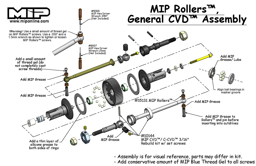 MIP Roller Pucks Bi-Metal Drive System For The TLR 22 3.0 (2)