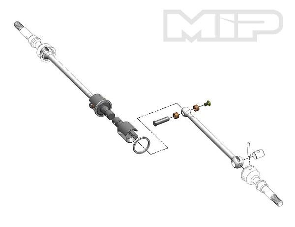 MIP Roller Pucks Gear Diff Kit For AE B6 Series Vehicles (1)