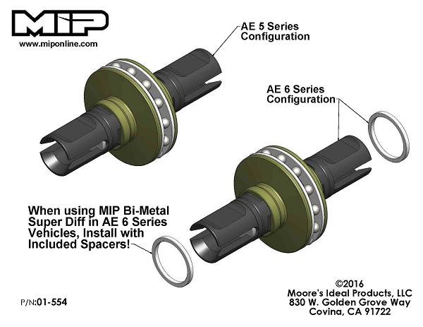 MIP Roller Pucks Gear Diff Kit For AE B6 Series Vehicles (3)