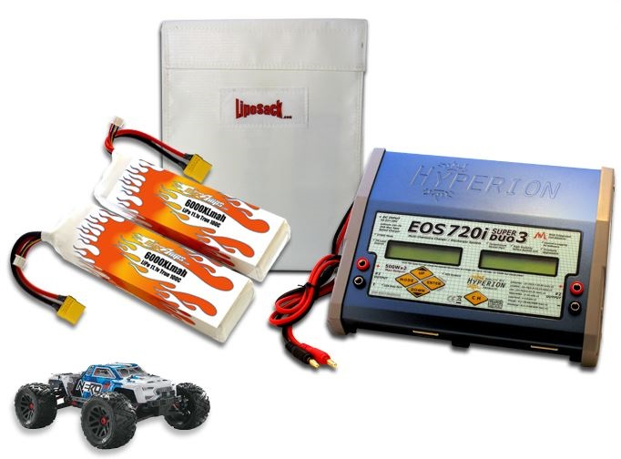 MaxAmps Dual LiPo 6000XL 11.1V ARTR Kit For Nero BLX