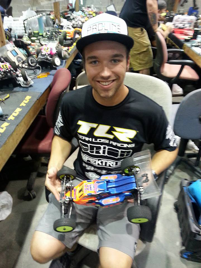 TLR's Dakotah Phend was flawless in both 2WD buggy and stadium truck to grab two National titles, but had to settled for second in 4WD buggy from his TQ spot.