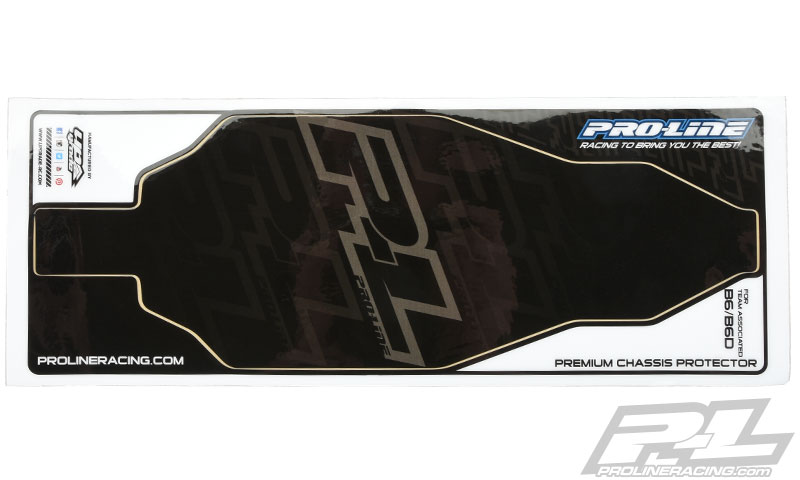 Pro-Line Black Chassis Protector For AE B6 & B6D (2)