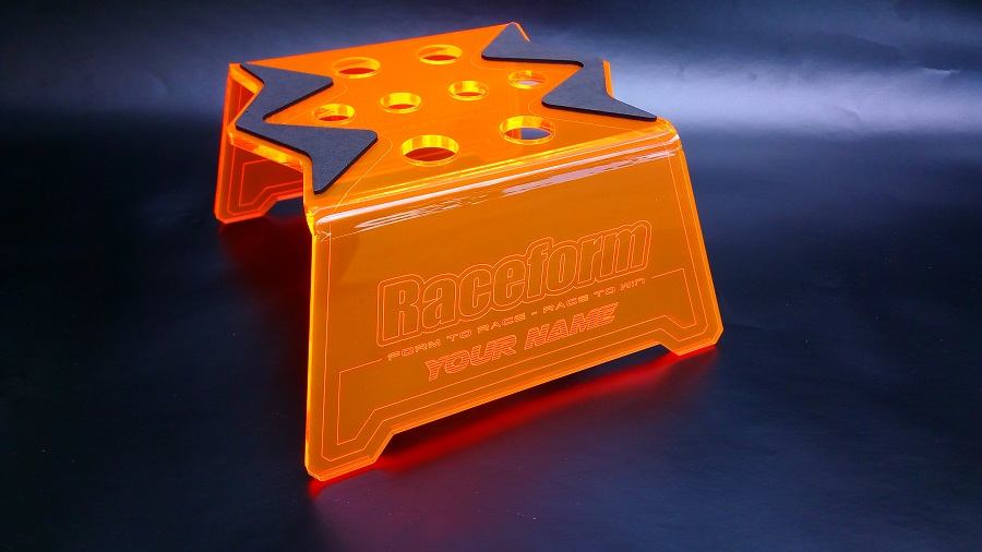 Raceform Evolver Car Stand With Customized Laser Engraved Name (4)