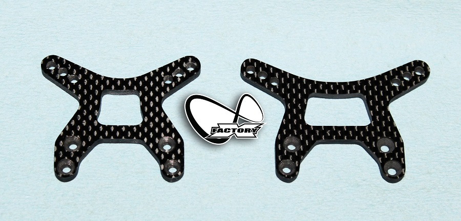 X Factory Infinity Carbon Fiber Shock Towers For B6 & B6D (1)