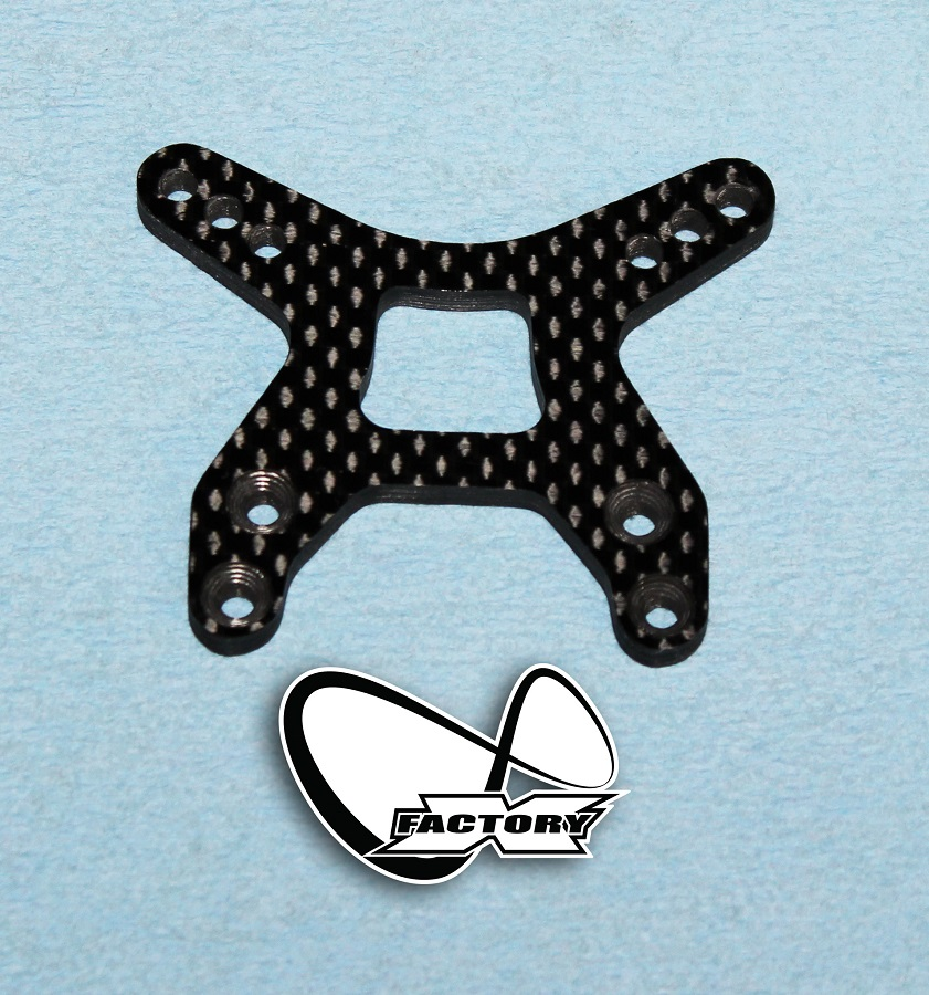 X Factory Infinity Carbon Fiber Shock Towers For B6 & B6D (3)