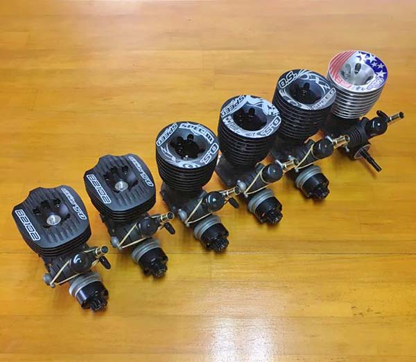 The engines former Nitro 1/8-scale IFMAR World Champion Atsushi Hara planned to bring to the 2016 event.
