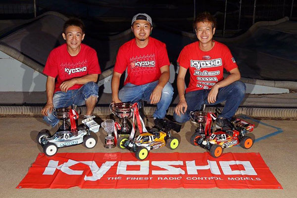 Naoto Matsukura led the Kyosho podium sweep. It was Matsukura's first Nitro National.