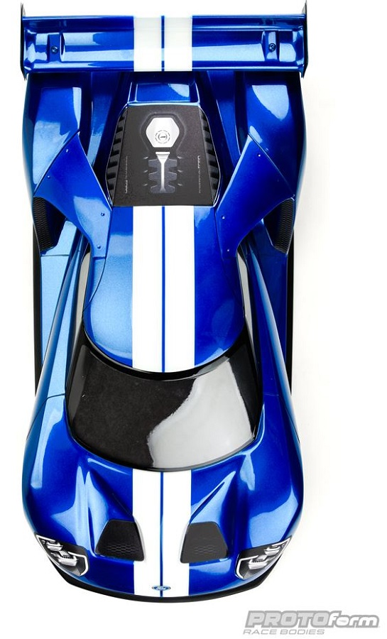 PROTOform Ford GT Clear Body For 200mm Pan Car (1a) (2)