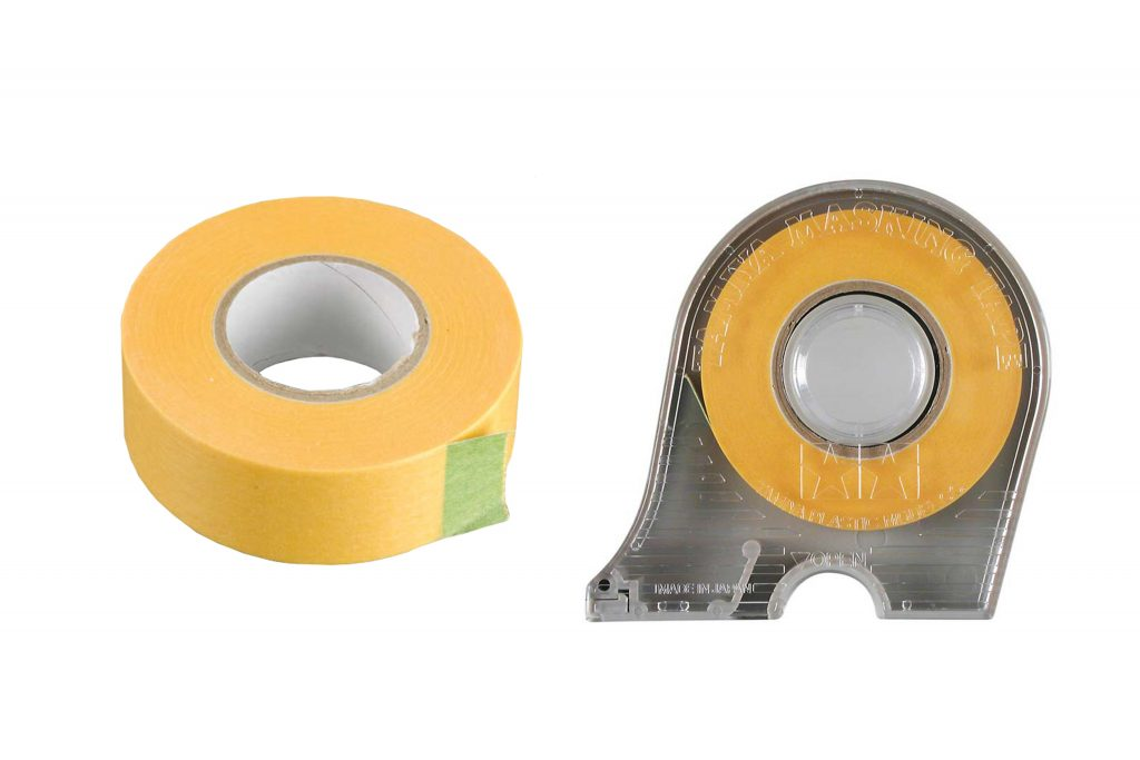 Masking tapes for modeling, such as these from Parma and Tamiya, are much better than the stuff from hardware stores.