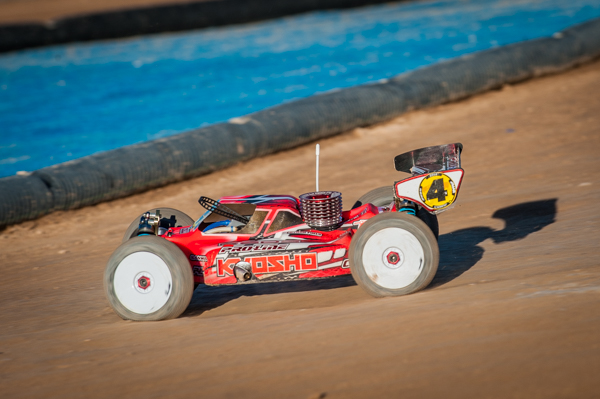 Kyosho's Elliot Boots lines up in a very respectable third position going in to qualifying.