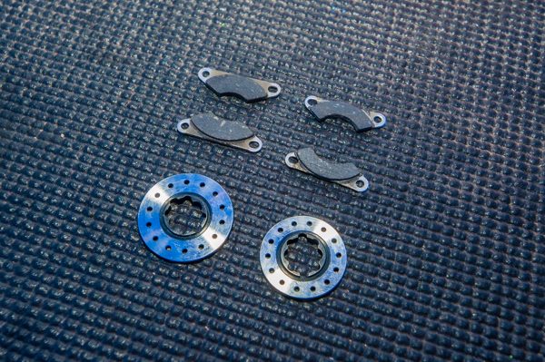 The TLR team is all using the new brake parts for improved and more consistent action.