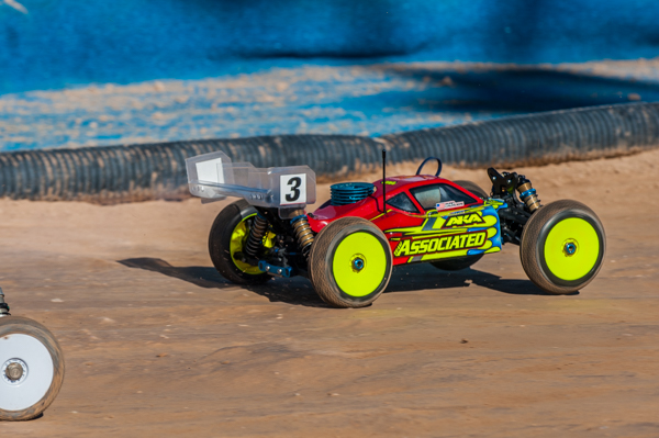 A heavy favorite at rhe event, Team Associated's Ryan Cavalieri is sitting second overall.