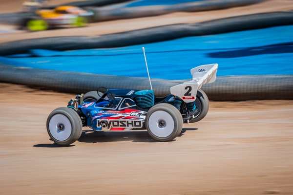 Kyosho's Jared Tebo grabbed the coveted points in Round 3 with precise and patient driving.