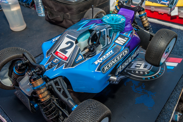 JConcpets also has a new body for the Team Associated RC8B3, and in this case mounted on Spencer Rivkin's buggy and adorned with his distinctive livery.