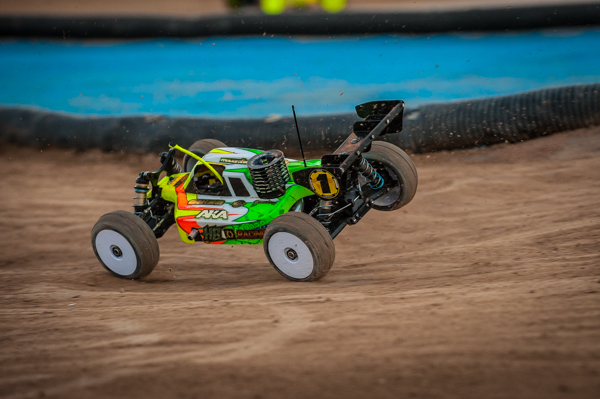 HB Racing's David Ronneflak kept things under control under the lights to grab Round 4.
