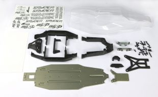 Serpent Spyder SRX2 MM Laydown Tranny & Alum Chassis