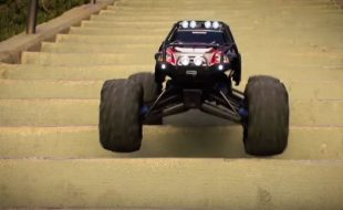 Stair Surfing With A Traxxas Summit [VIDEO]