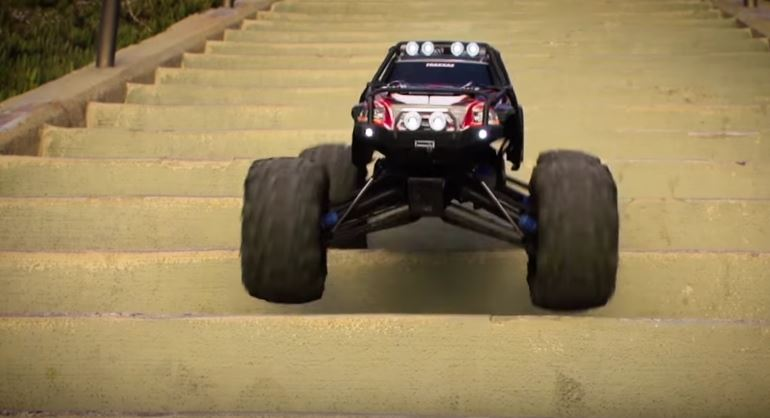 stair-surfing-with-a-traxxas-summit