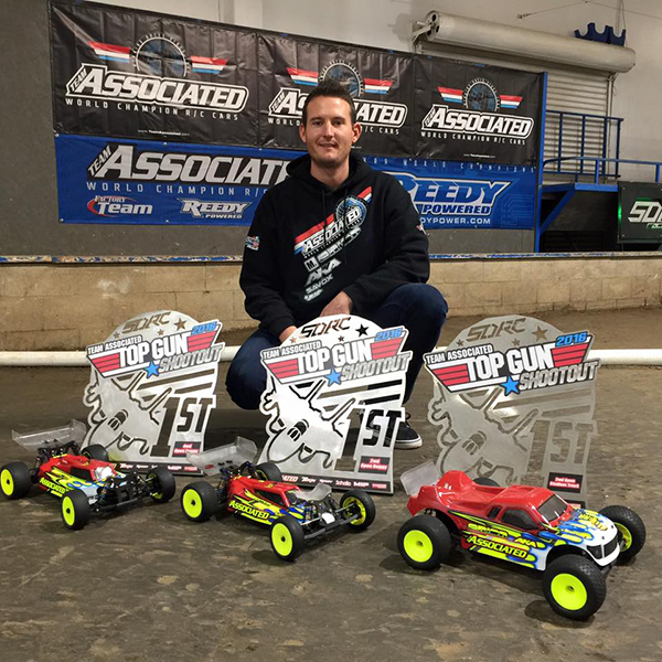 Team Associated's Ryan Cavalieri put on an amazing performance at this year's Top Gun Shootout by sweeping the premiere classes. (photos courtesy of Joe Pillars)