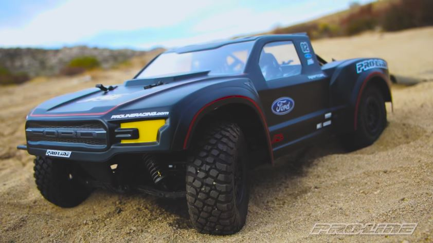 Pro Line 17 Ford Raptor Trophy Truck Body Video Rc Car Action