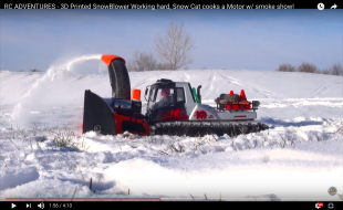 Snow Cat with 3D Printed Blower for Wintertime [VIDEO]