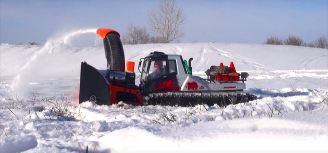 Snow Cat With 3d Printed Blower For Wintertime Video Rc Car Action