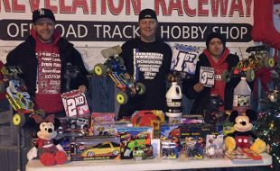 Mugen's Drake Takes Christmas Gifts for Kids Race