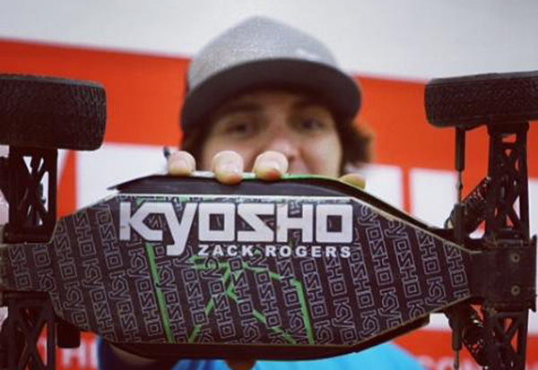 Kyosho's Zachary Rogers is a local at the new Bakersfield R/C Experience and is enjoying the rubber track surface.