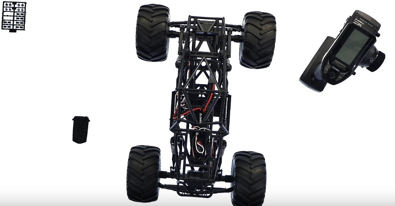 Axial SMT10 Rear Steering With The Futaba 4PV