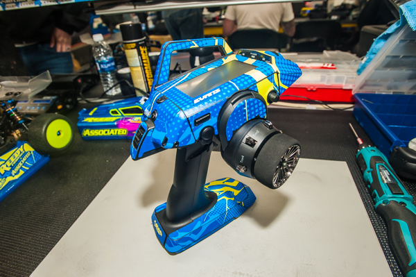 """Evans is now running a Sanwa M12S with his livery """"wrapped."""""""