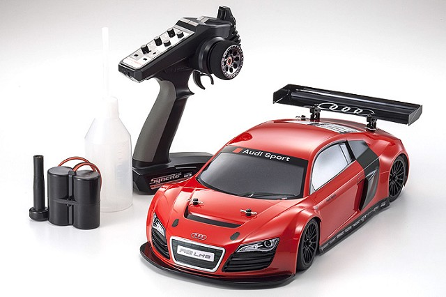 Kyosho ReadySet Audi R8 LMS Red GP FW-06 PureTen (1)