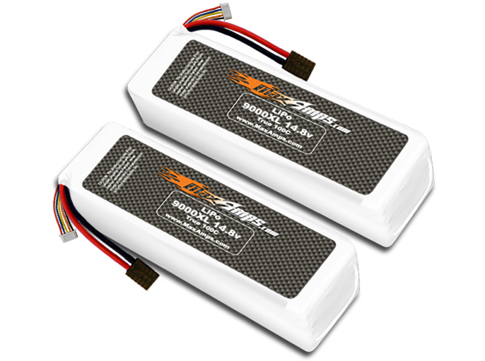 MaxAmps 9000XL 4s 14.8V X-Maxx Pair (1)
