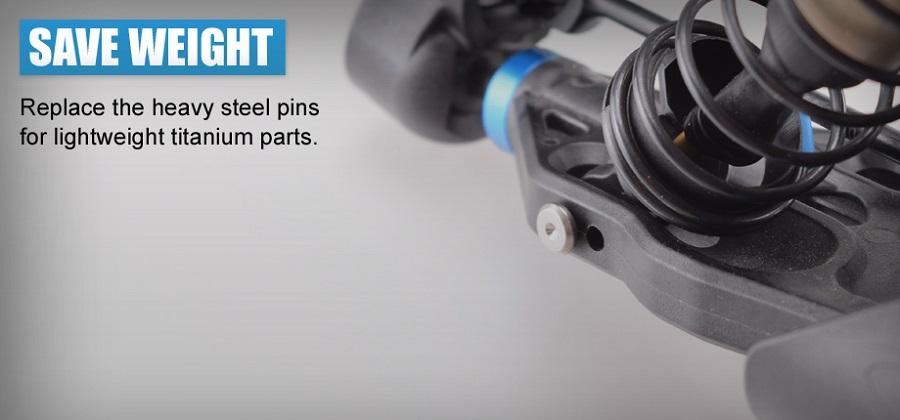RDRP RC8B3 Titanium Shock Pins (5)