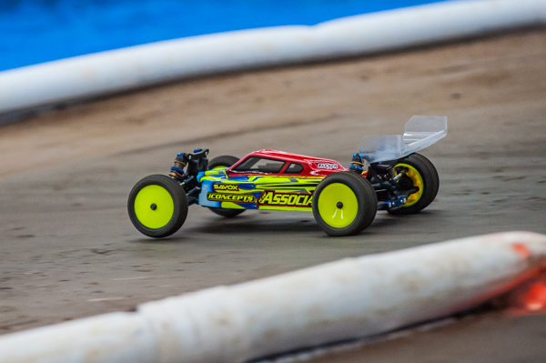 Team Associated's Ryan Cavalieri is showing his reputation for speed and consistency and is sitting in striking distance in points.