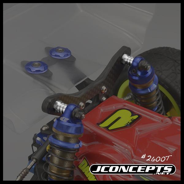 JConcepts B6, B6D & B64 Fin Titanium Shock Stand-Offs (2)