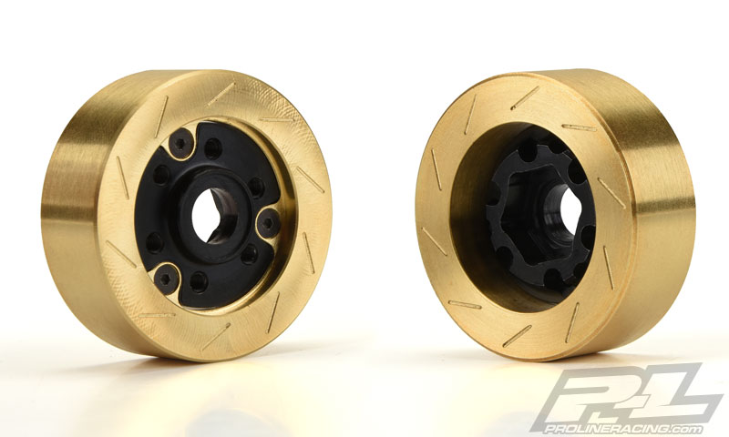 Pro-Line Brass Brake Rotor Weights & 12mm Hex Adapters (2)