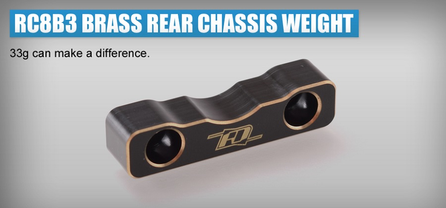 RDRP Brass Rear Weight For The Team Associated RC8B3 (3)