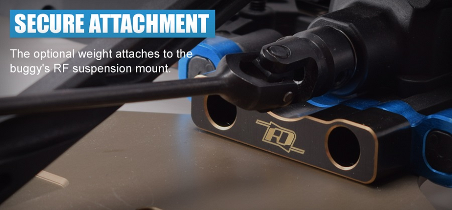 RDRP Brass Rear Weight For The Team Associated RC8B3 (4)