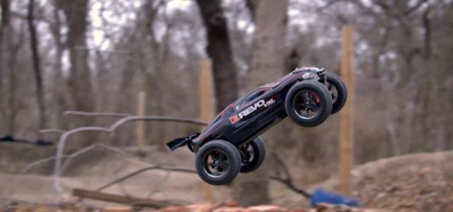 Traxxas E-Revo 1/16 VXL  Big Air Backflips [VIDEO]