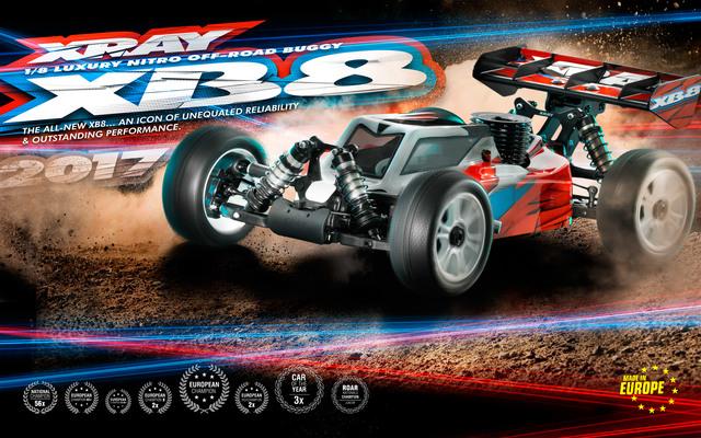 XRAY 2017 XB8 18 4wd Nitro Buggy Kit (1)