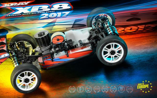 XRAY 2017 XB8 18 4wd Nitro Buggy Kit (2)