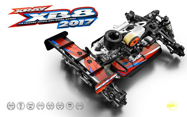 XRAY 2017 XB8 18 4wd Nitro Buggy Kit (5)